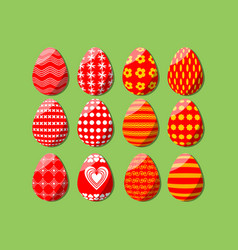 easter egg isolated set of design elements for vector image vector image