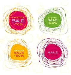 Easter sale abstract frames vector image vector image
