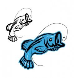 fishing symbols vector image