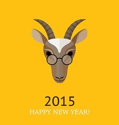 goat symbol of 2015 vector image