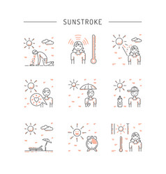 icon sunstrocke vector image