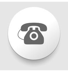 Image of a vintage telephone isolated vector image vector image