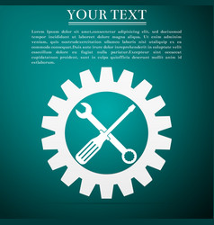 service tool icon screwdriver spanner cogwheel vector image vector image