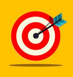 target icon flat design vector image