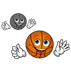 basketball ball cartoon vector image