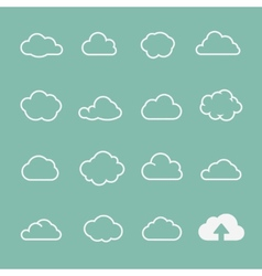 cloud shapes set cloud icons for cloud computing vector image vector image