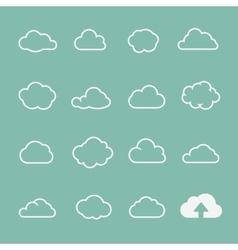 cloud shapes set cloud icons for cloud computing vector image