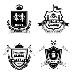 Heraldic Best Choice Emblems Set vector image