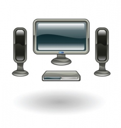 home cinema illustration vector image vector image