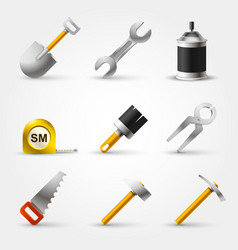 set builder tool vector image vector image