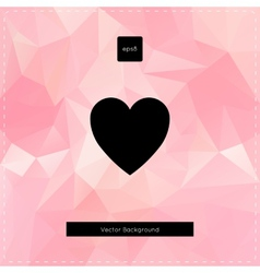 Abstract pink polygonal background vector image vector image