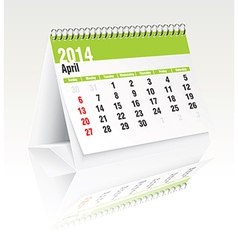 April 2014 desk calendar vector