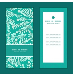 emerald green plants vertical frame pattern vector image vector image