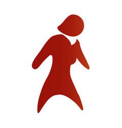 Faceless woman adult vector
