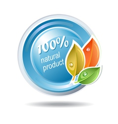 Natural product ecologic icon vector image vector image