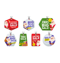 new year sale tags colorful shopping vector image vector image