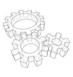 3d gear wheel vector image