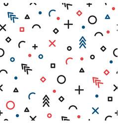 Abstract geometric seamless pattern memphis vector