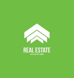 Abstract real estate house logo vector