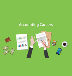 Accounting careers with a man writing vector