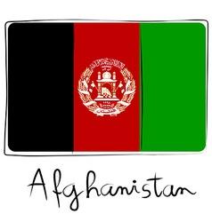 Afganistan flag doodle vector image