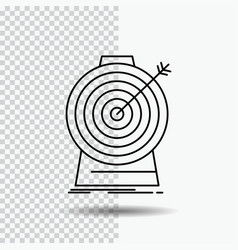 aim focus goal target targeting line icon on vector image