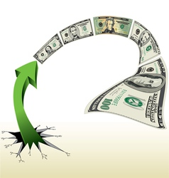 Arrow With Lots of Money vector image