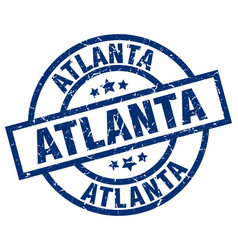 Atlanta blue round grunge stamp vector