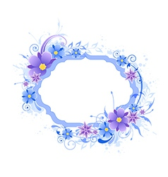 background with blue and violet flowers vector image