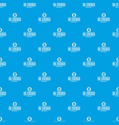 barrel oil pattern seamless blue vector image