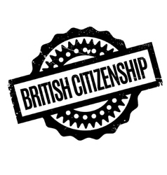 British Citizenship rubber stamp vector