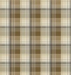 Brown tartan plaid background vector