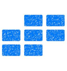 Calendar grid grunge icon vector