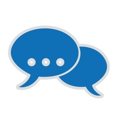 chat symbol isolated icon design vector image