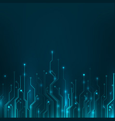 Circuit board abstract computer technology blue vector