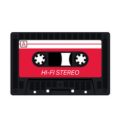 Compact audio cassette vector