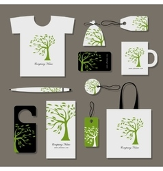 Corporate business style design floral tree vector