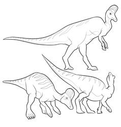 Corythosaurus lineart vector