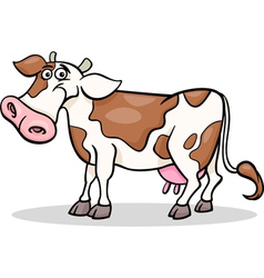 cow farm animal cartoon vector image