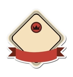 crown masculine emblem icon vector image