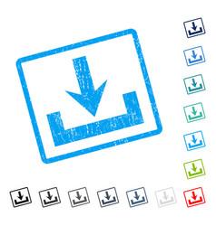 Downloads icon rubber watermark vector