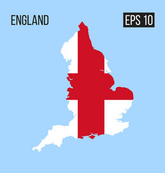 england map border with flag eps10 vector image