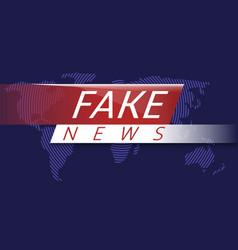 fake news vector image