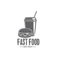 fast food badges vector image