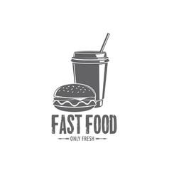 Fast food badges vector
