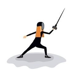 Fencing sport design vector