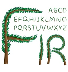 fir tree alphabet vector image