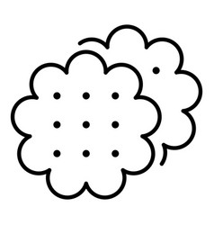 Flower biscuit icon outline style vector