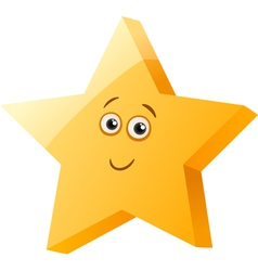 Funny star cartoon vector