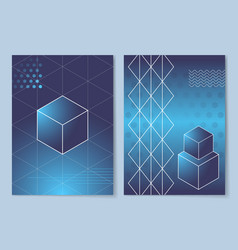 geometric shapes posters set vector image